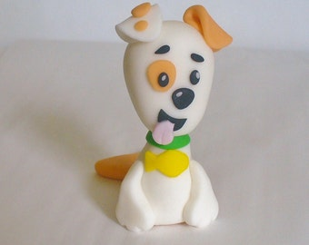 BUBBLE PUPPY 3D Edible Fondant Figure Cake Topper Decoration