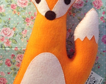 Felt plush fox- Mr fox plushie- fox toy