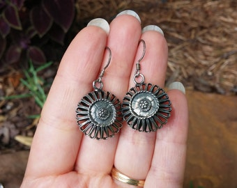 Adorable Sterling Flower Earrings