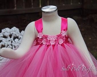 Pink Tutu Dress-Flower Girl Dress-Valentines Tutu