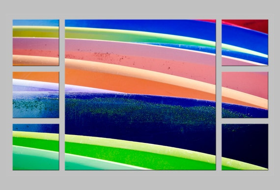 FREE SHIPPING. Colorful Paddleboards/Surfboards. Watersports Lover's Gift. Abstract Photography. Metal Print by OneFrameStories.