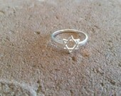 Stunning yet simple Sterling Silver Star of David Ring, beautiful statement ring to show off your faith