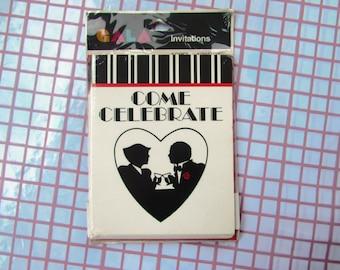 Vintage 80s GALA Invitations Cards
