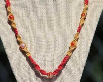 Yellow and Red Mania Necklace