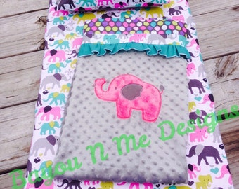 Personalized Elephant Nap Mat Cover