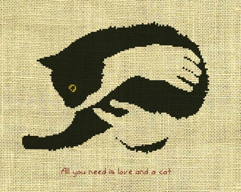 Cats/animal Counted Cross Stitch Pattern