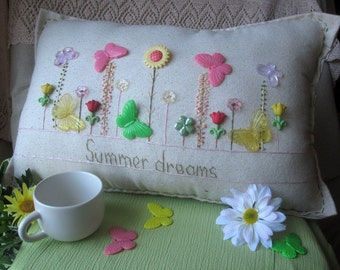Summer Dreams Pillow (Cottage Style)