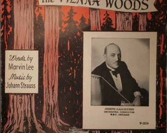 """1939 Sheet Music, """"Tales From The Vienna Woods"""""""
