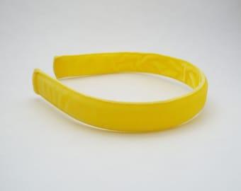 Yellow Velvet Headband