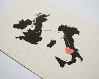 Destination Wedding Invitation // Countries