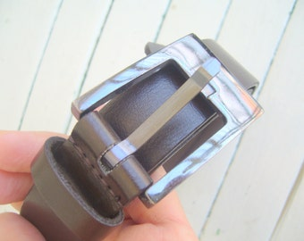 Men's belt bitter brown/faux leather belt for men/vintage men's belt