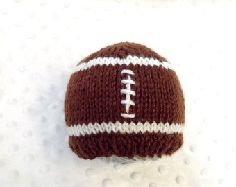 Football Baby Hat • Football Newborn Hat • Football Infant Hat • Football Hat • Baby Sports Hat • Sports Hat • Football Newborn Photoprop