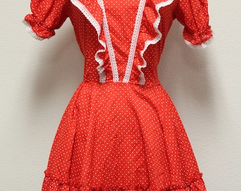 Vintage Rockabilly Polka Dot Dress/ SALE