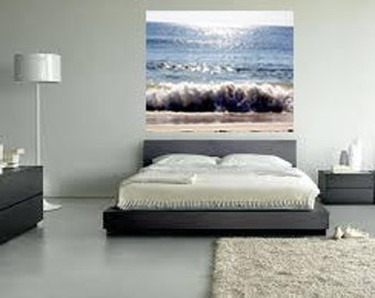 Photo Print or Canvas Gallery Wrap - Sparkling Ocean Waves, Rolling Waves