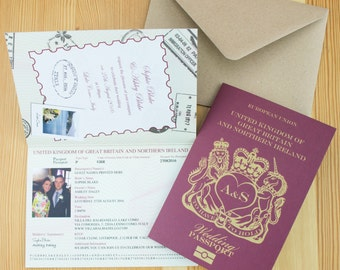 passport wedding invitation | etsy, Wedding invitations