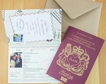 passport wedding invitations