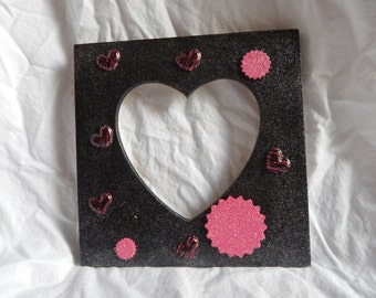 A lovely heart shaped  picture frame