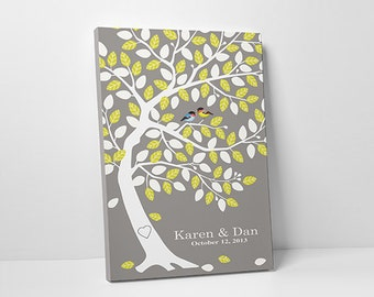 Guest Book Tree - Unique Wedding Guestbook - Wedding Shower Decor - 75-100 Guests - Wrapped Canvas - 16x20,20x30 or 24x36 Inches
