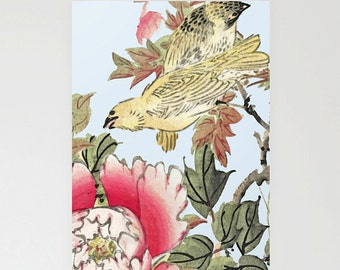 Birthday card, Mothers day Card, Greetings card, hand made card, blank card, floral card, artist illustration, 'Harmonious Living'