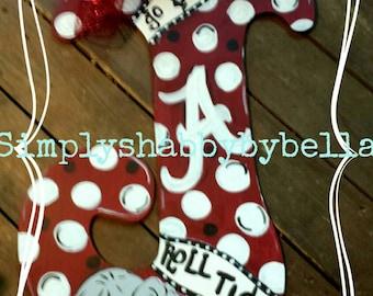 Alabama Roll Tide Wooden  Letter  Door Hanger