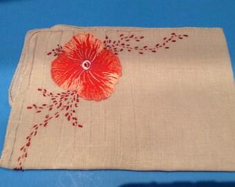 Big Orange Poppy flower