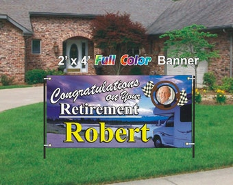 RV Retirement Banner -  See the open road.