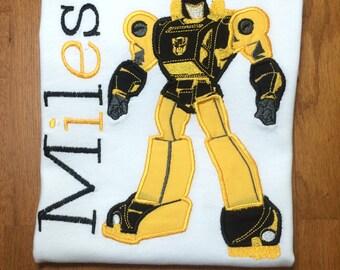 Personalized Robot Hero Shirt, Onesie, Romper or Dress