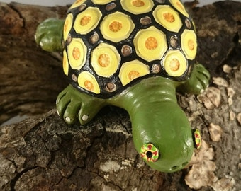 Clay pottery ceramic turtle whistle