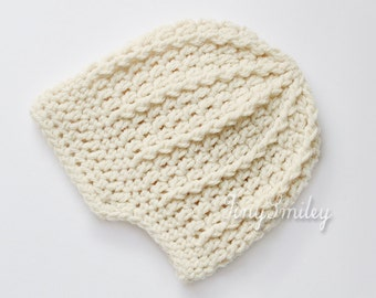 Newsboy Baby Hat, Crochet Baby Boy Hat, Cream Crochet Baby Hat, Oatmeal Newsboy Hat, Newsboy Baby Hat, Baby Outfit, Hats for Boys, Baby Boy