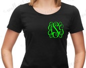 Iron On Monogram decal  Iron On Transfer (T-SHIRT NOT INCLUDED) Do it yourself Heat Transfer Custom