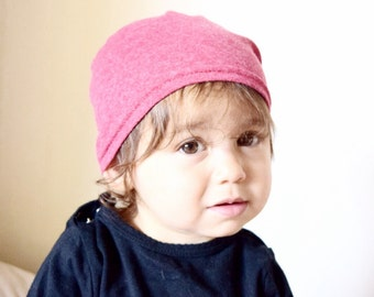 Baby slouch beanie, baby boy beanie, shower gift- baby gift - red soft stretch jersey- boy or girl hat- cool kid clothes, ready to ship