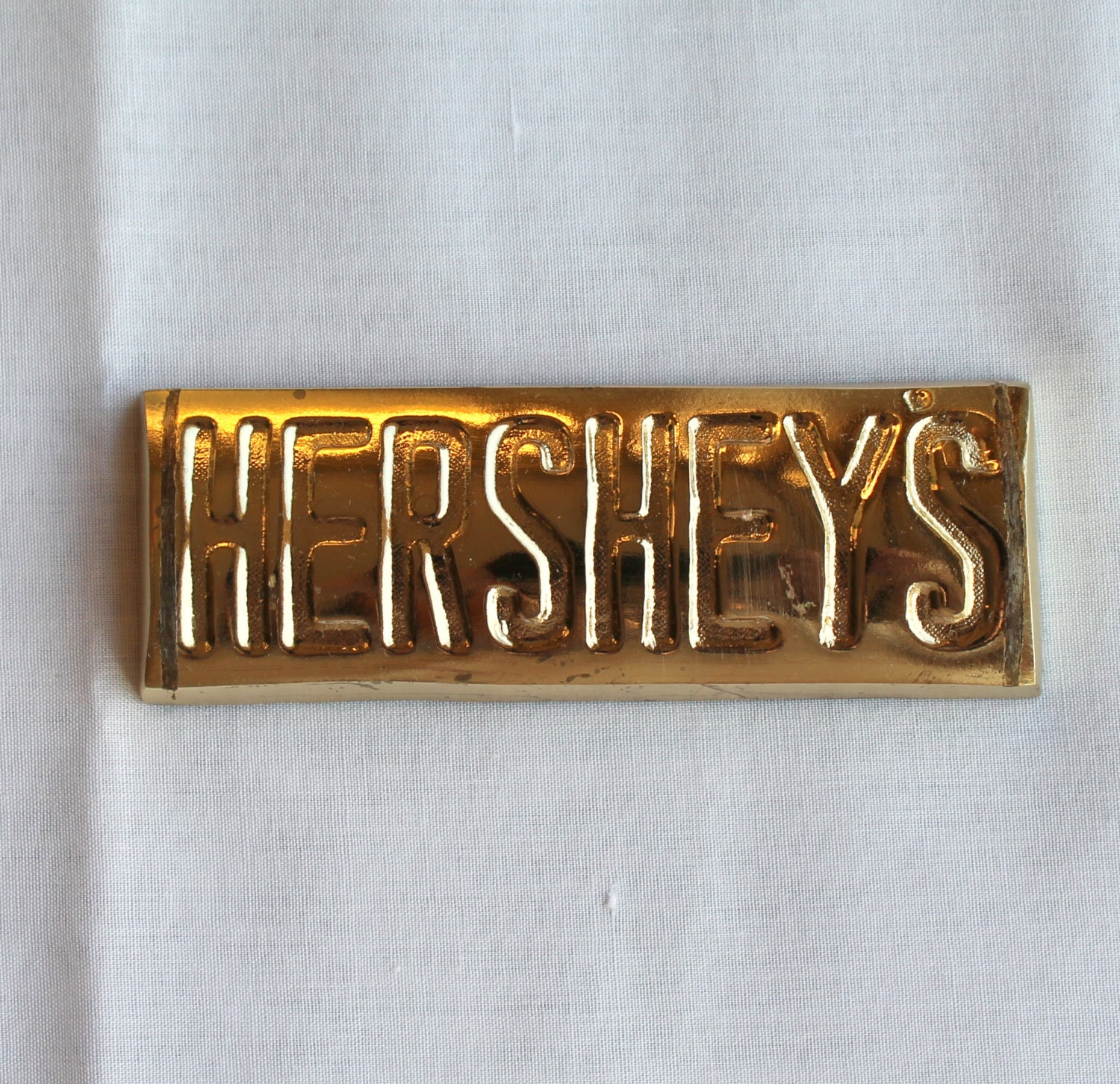 Vintage Hershey S Gold Bar Paperweight