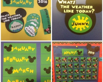 Number Names Worksheets preschool color chart : Preschool Kindergarten Classroom Disney Mickey by MsKarensKrafts