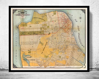 Old Map of San Francisco 1887
