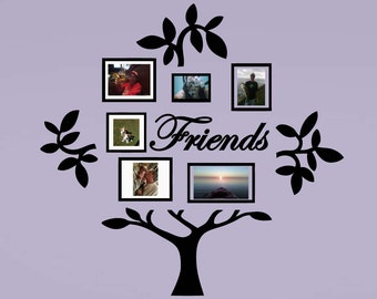 Friends Family Tree Vinyl Wall Sticker Decal (D)