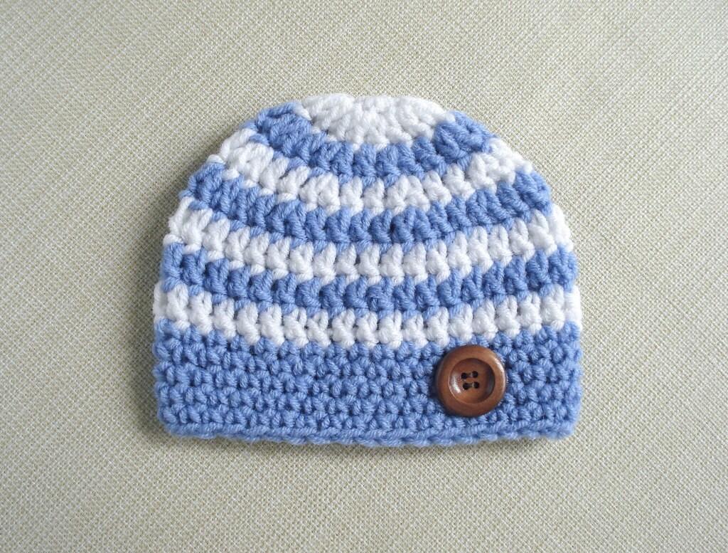 Striped Baby boy hat Crochet newborn hat for Boy Newborn photo