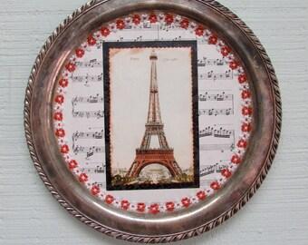 Silver Plate Collage - Paris