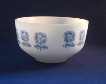 White strengthened glass bowl made by Federal Glass