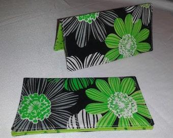 Flower Checkbook cover