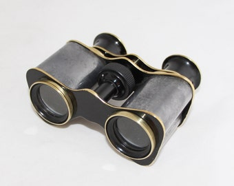 Vintage French Brass Binoculars Theater Glasses Opera Glasses