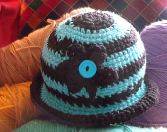 women and girls crochet hats made with acrylic yarn