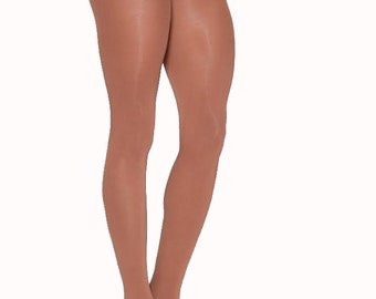 Skin Toned Opaque Tights (w/ Line in upper thigh)