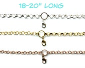 """Chain for Glass Memory Locket, Chunky Rolo Shiny Plated 20"""" Chain with Locket Connector, Personalized Floating Charm Locket Pendant Chain"""
