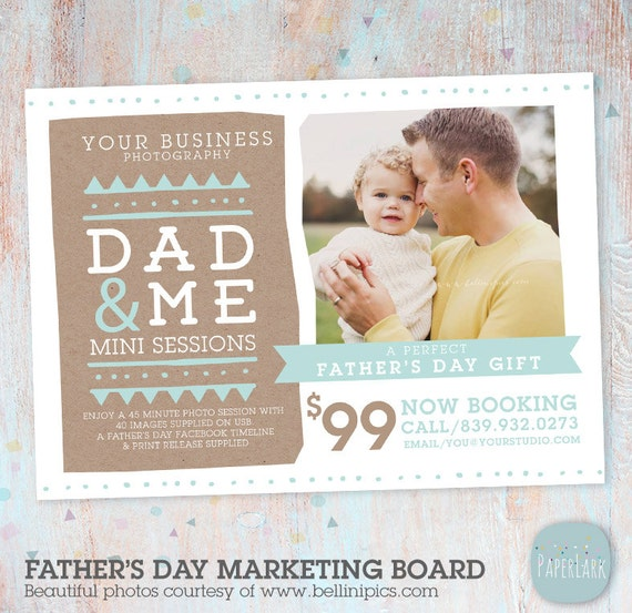 Father's Day Mini Session Template Photoshop IF017