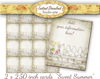 Editabl Printable Jewelry Cards Tags Labels Cottage Chic  Earring Display Cards Instant Download #0280