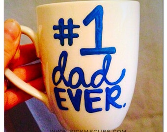 Number 1 dad ever- World's greatest father mug-Greatest dad-Funny Father's Day mug this guy is one awesome dad