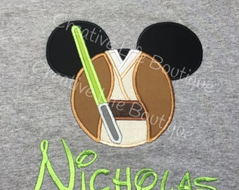 Disney Jedi Mickey mousehead - Personalized - Youth