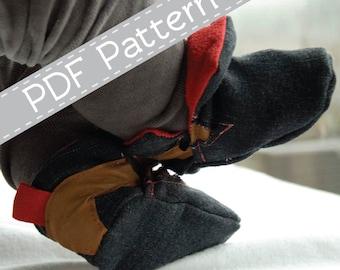 Sporty shoe Micheal, boys bootie, PDF pattern