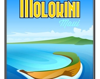 "Molokini, HI Poster Print - Large (16"" x 20"")"