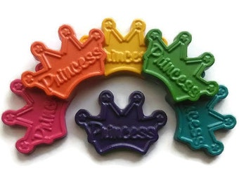 Princess Tiara crayons set of 6